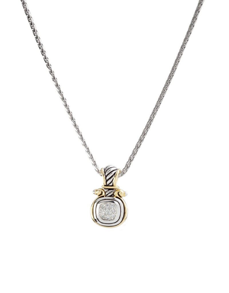 John Medeiros - Anvil Pave Small Slider with Chain
