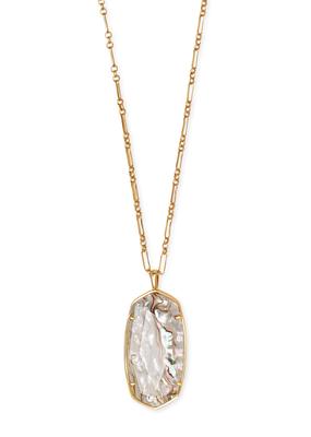 Kendra Scott Kendra Scott Faceted Reid Necklace Vintage Gold White Abalone