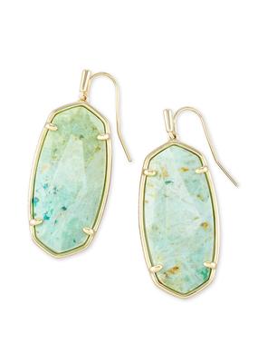 Kendra Scott Kendra Scott Elle Gold & Sea Green Earrings