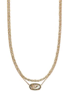 Kendra Scott Kendra Scott Elisa Vintage Gold & Abalone Necklace