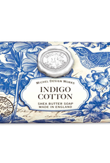 Michel Design Works - Indigo Cotton Large Bath Soap Bar
