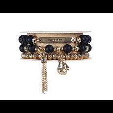 Soul Stacks - Warrior Black Agate Bracelet Set