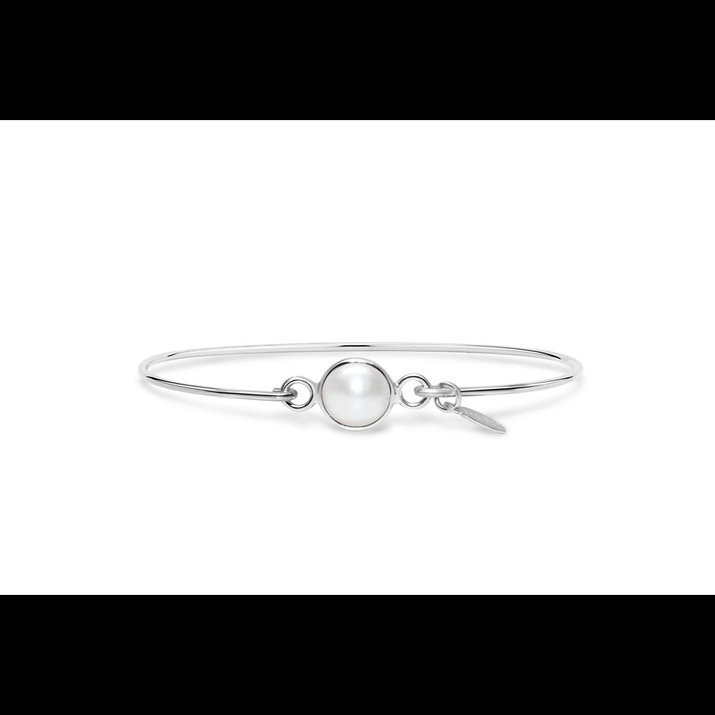 Stia 8mm Birthstone Bracelet - Freshwater Pearl/June