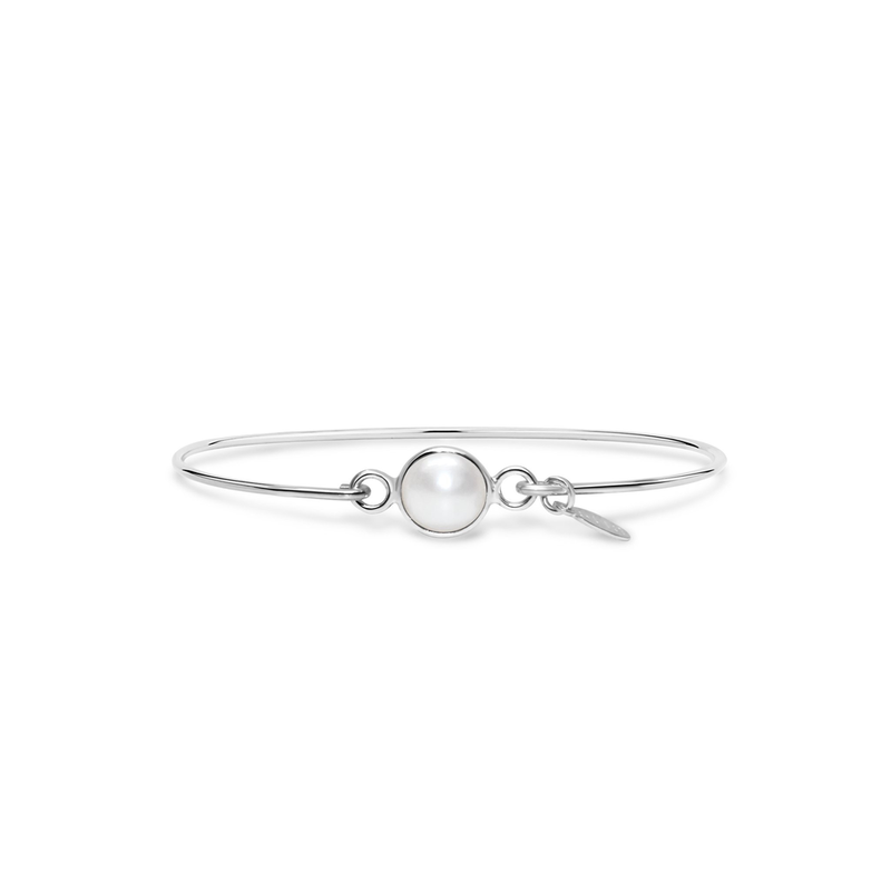 Stia Stia 8mm Birthstone Bracelet - Freshwater Pearl/June