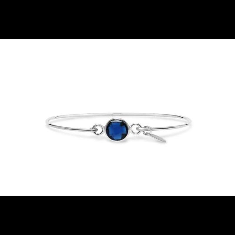 Stia Stia 8mm Birthstone Bracelet - Sapphire Hydro/September