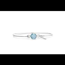 Stia Stia 8mm Birthstone Bracelet - Aqua Quartz//December