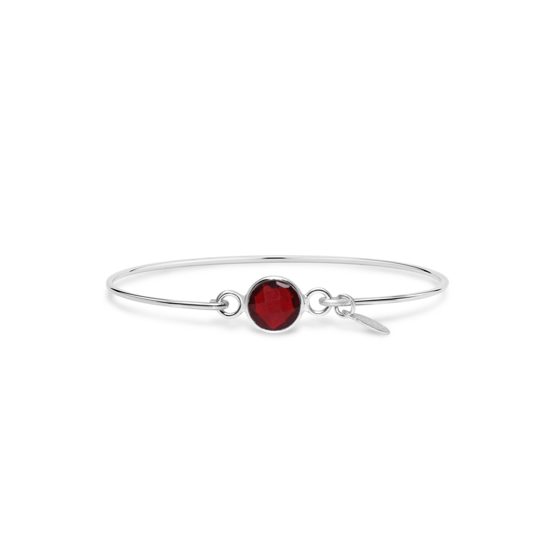 Stia Stia 8mm Birthstone Bracelet - Garnet Hydro/January