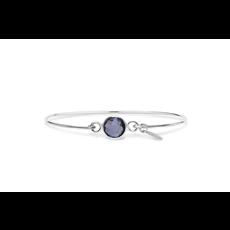 Stia Stia 8mm Birthstone Bracelet - Amethyst/February