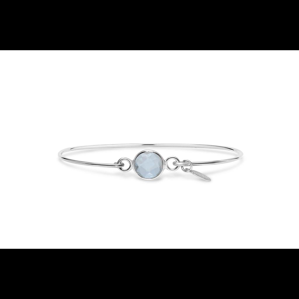 Stia 8mm Birthstone Bracelet - Clear Quartz/April