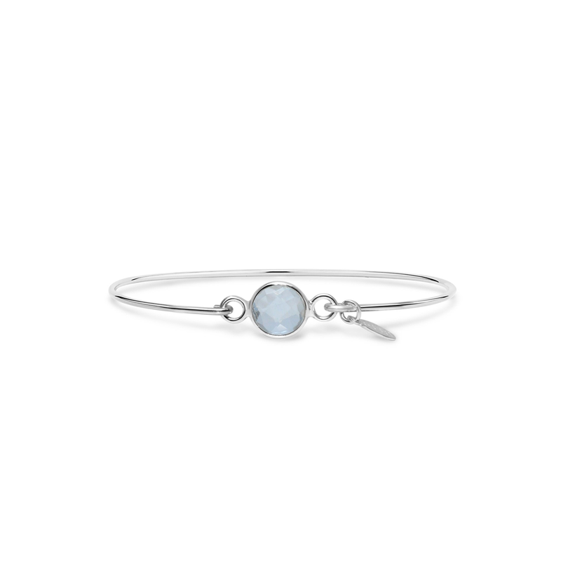 Stia Stia 8mm Birthstone Bracelet - Clear Quartz/April
