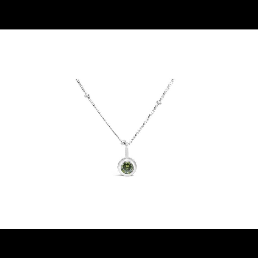 Stia Jewelry CZ Bezel Necklace - Peridot/August