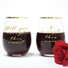 8 Oak Lane - 2 pk Wine Glass - Accept Rose