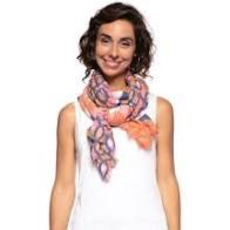Gia Pink Oblong Silk Scarf