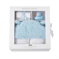 Mud Pie Mud Pie Blue Baby Bath Time Gift Set