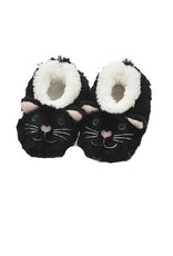 Baby Snoozies Black Cat Slippers 3-6