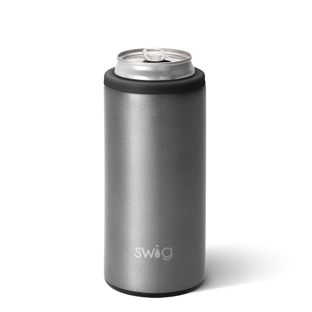 Swig 12oz Skinny Can Cooler-Graphite