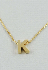 Cool and Interesting - Gold Block Initial K
