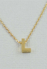 Cool and Interesting - Gold Block Initial L