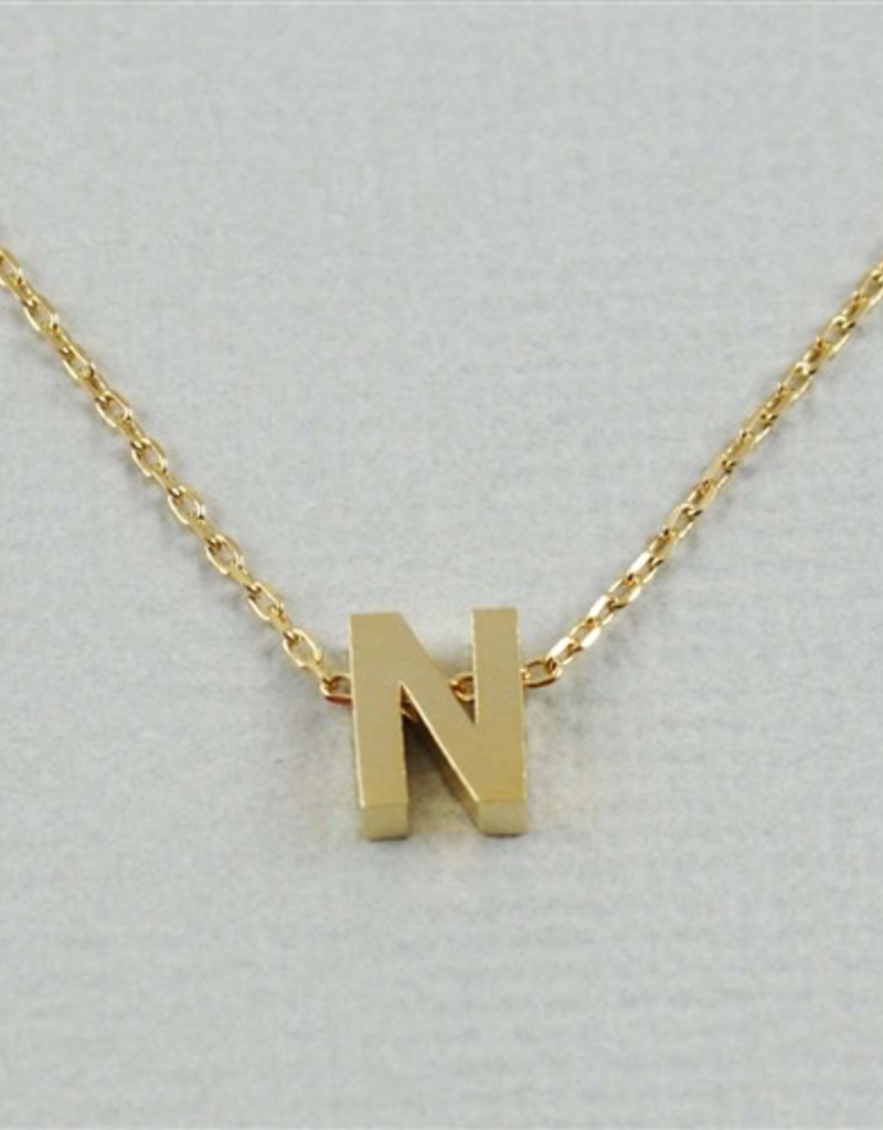Cool and Interesting - Gold Block Initial N