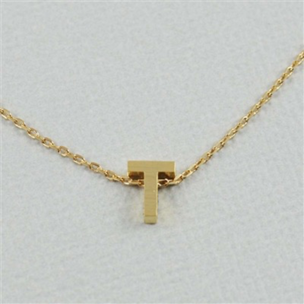Cool and Interesting Cool and Interesting - Gold Block Initial T