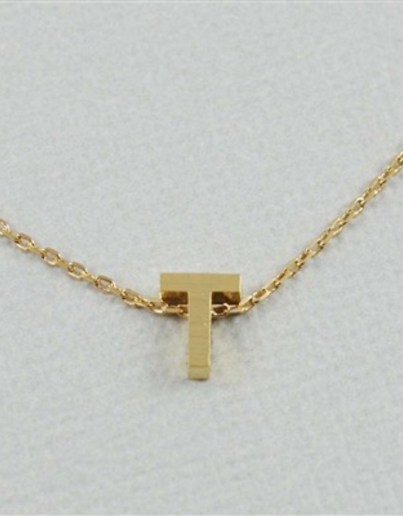 Cool and Interesting - Gold Block Initial T