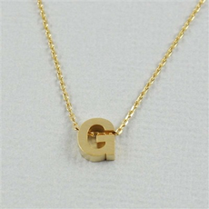 Cool and Interesting - Gold Block Initial G