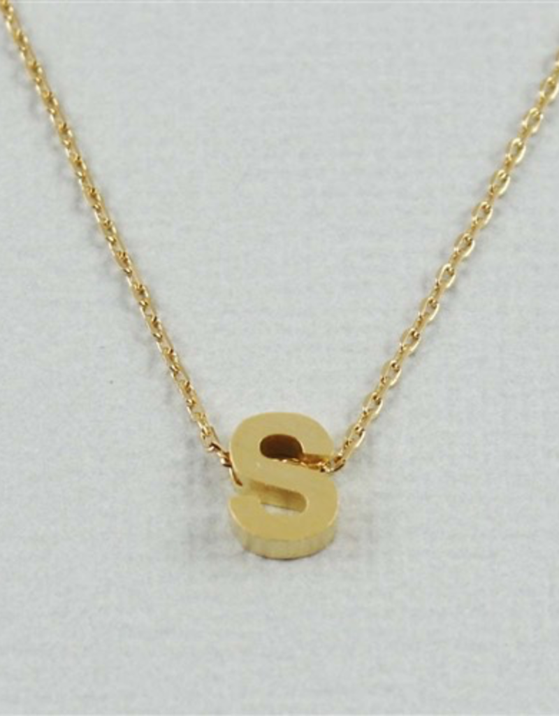 Cool and Interesting - Gold Block Initial S