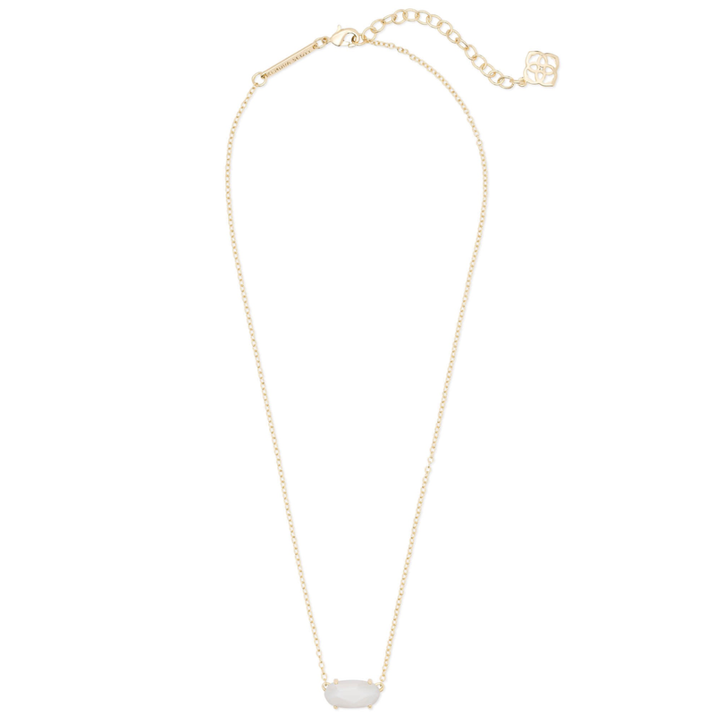 Kendra Scott Ever Necklace in Gold with White Pearl