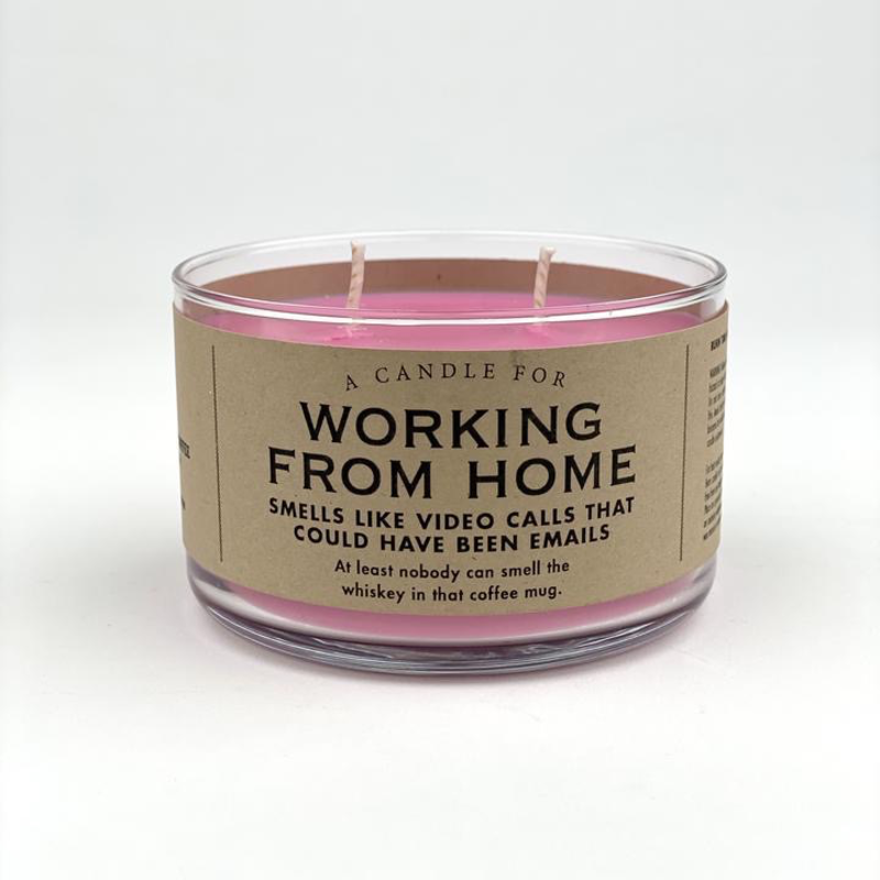 Whiskey River Soap Co. Working From Home Candle