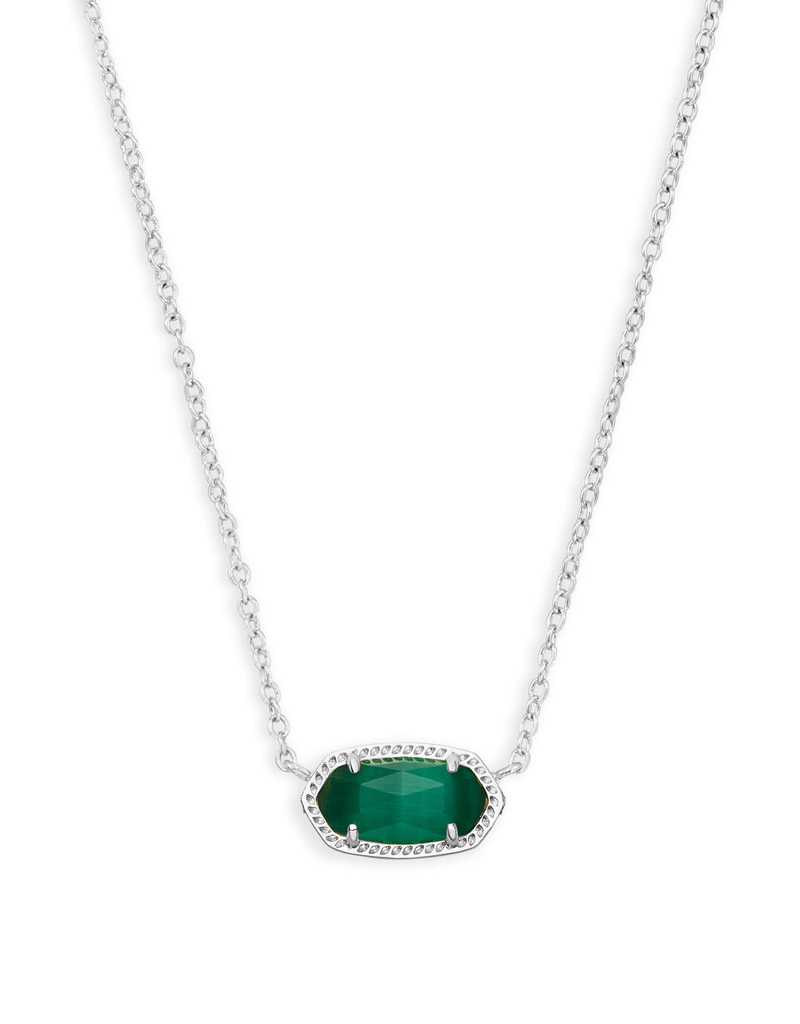 Kendra Scott Kendra Scott Elisa Necklace Rhod Emerald Cats Eye