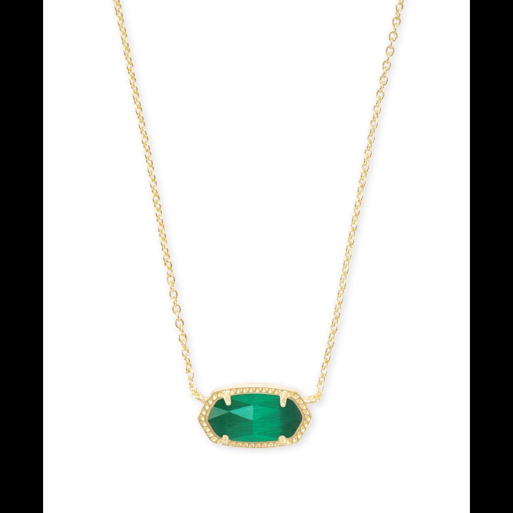 Kendra Scott Kendra Scott Elisa Necklace in Gold Emerald Cats Eye