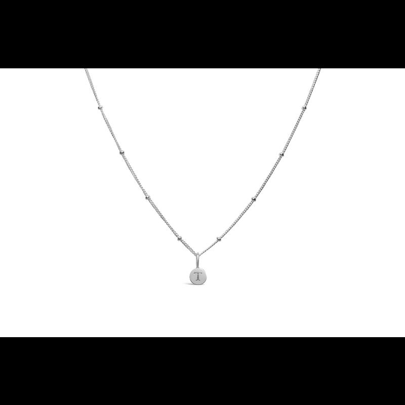 Stia Stia Jewelry Love Letters - Mini Disk Letter Necklace/T