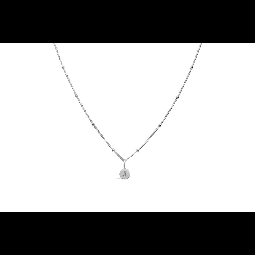 Stia Stia Jewelry Love Letters - Mini Disk Letter Necklace/J