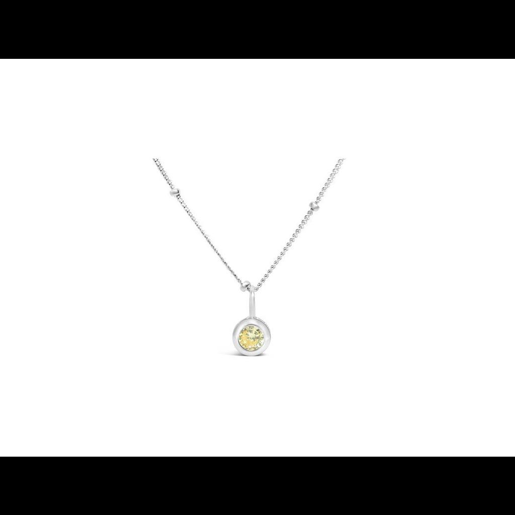 Stia Stia Jewelry CZ Bezel Necklace - Citrine/November