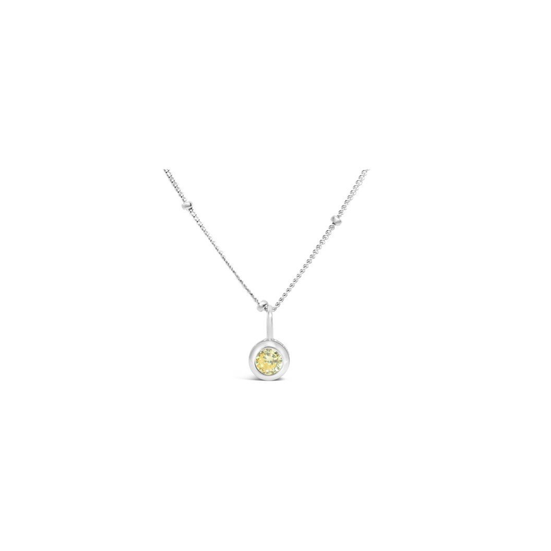 Stia Stia Jewelry CZ Bezel Necklace - Citrine/November