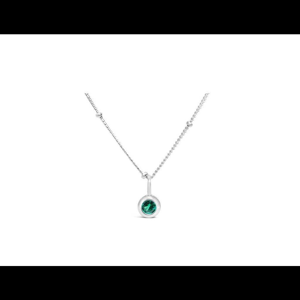 Stia Stia Jewelry CZ Bezel Necklace - Emerald/May