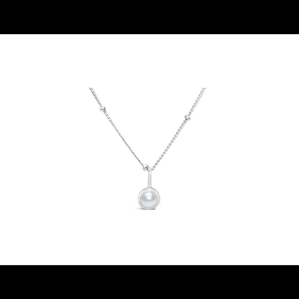 Stia Jewelry CZ Bezel Necklace - Pearl/June