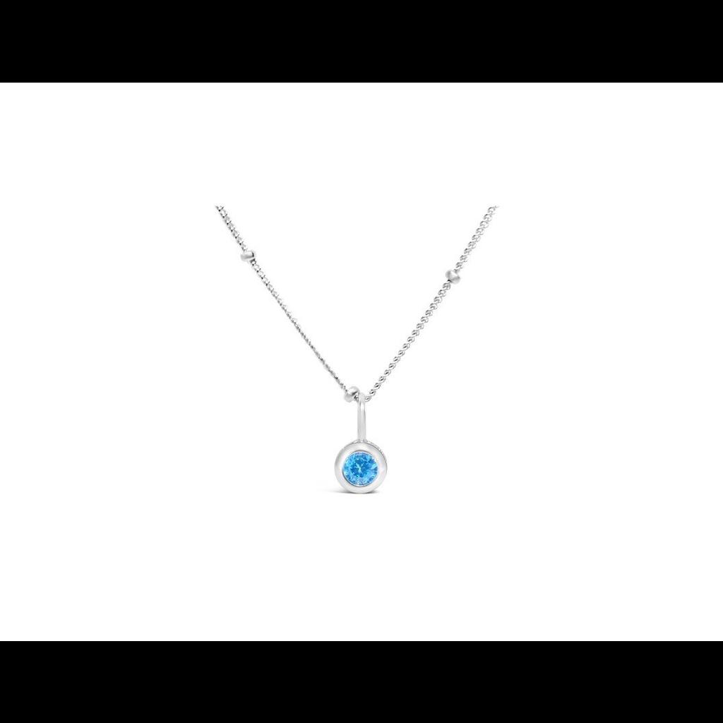 Stia Stia Jewelry CZ Bezel Necklace - Zircon/December