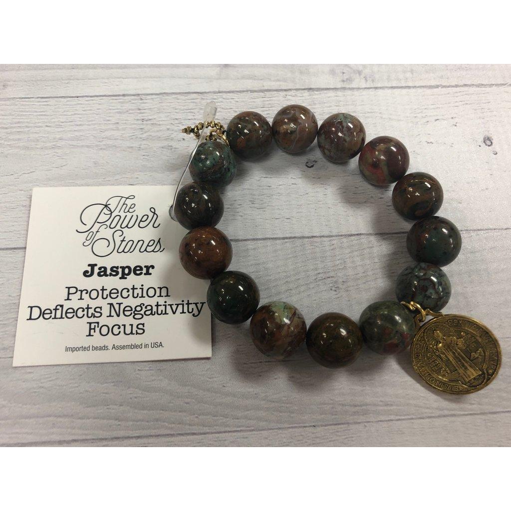 Jasper with Saint Benedict Medal