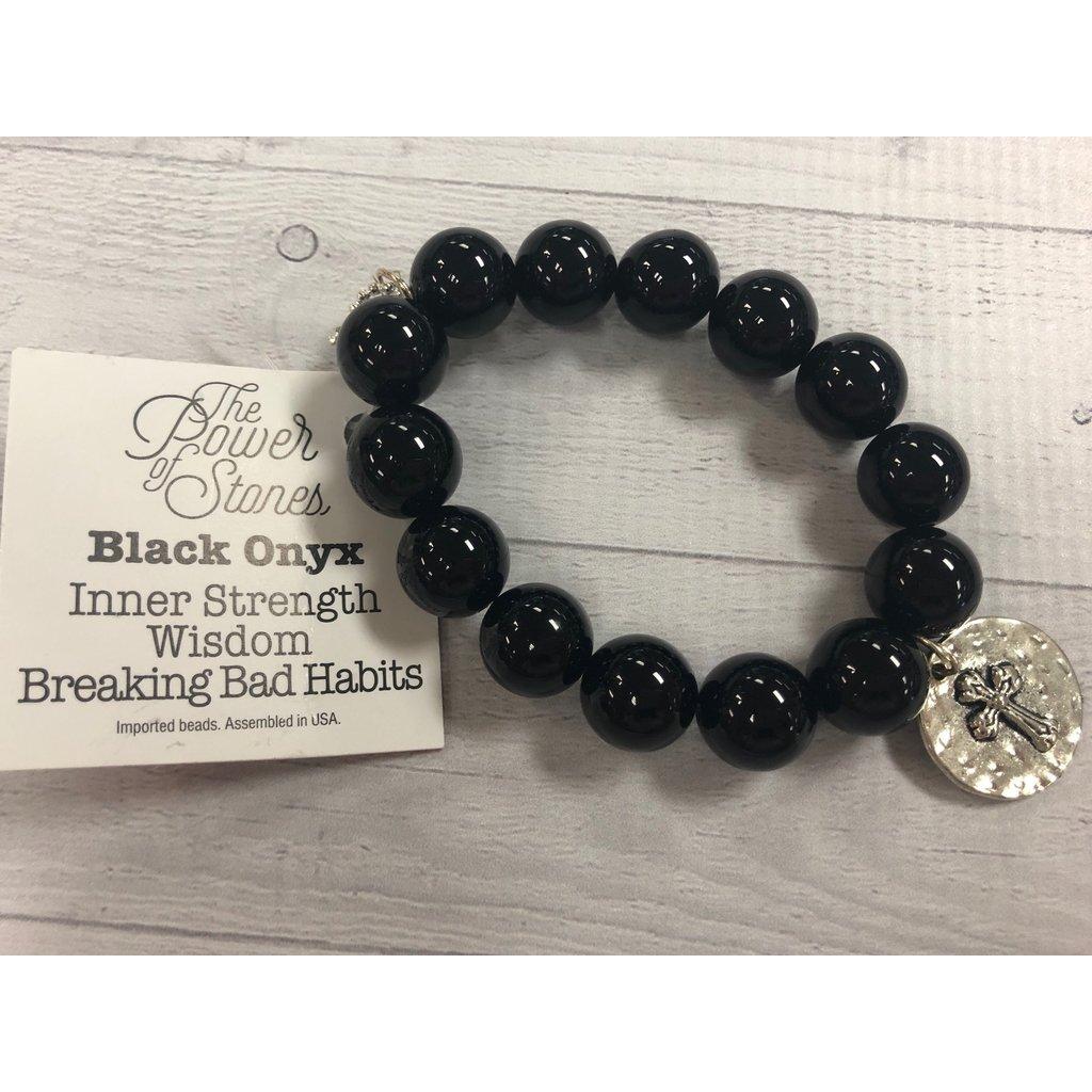 Black Onyx with Faith Cross Medal