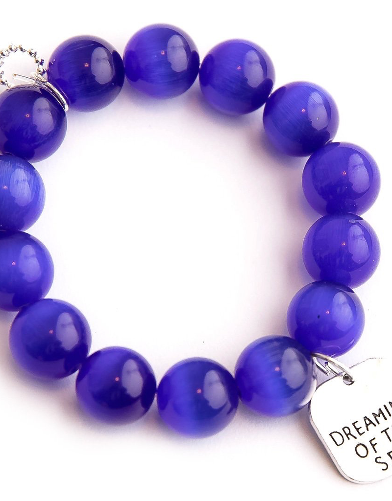 PowerBeads by Jen Powerbeads by Jen Royal Blue Calcite Paired with A Dreaming of the Sea Medal