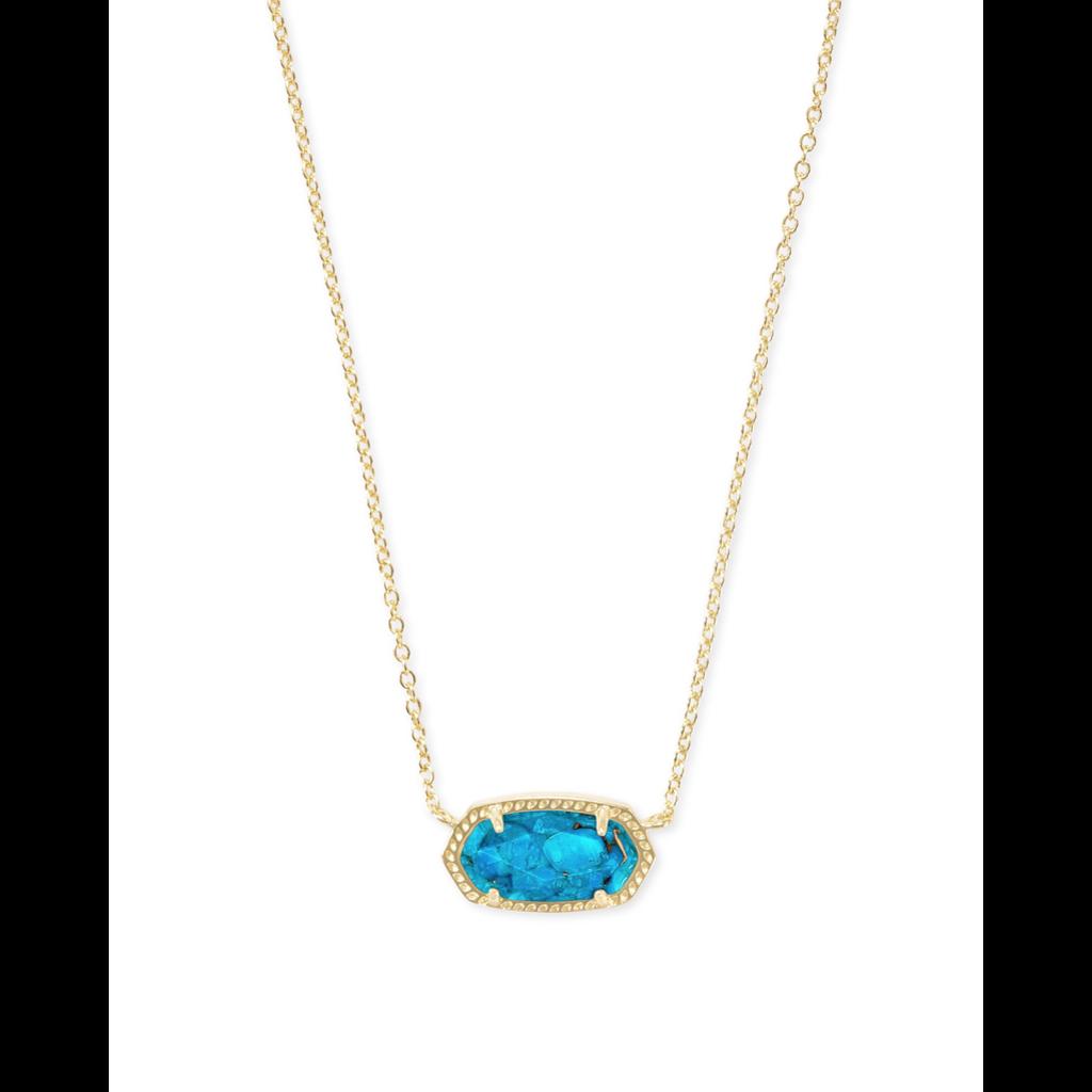 Kendra Scott Kendra Scott Elisa Necklace in Gold Bronze Veined Turquoise