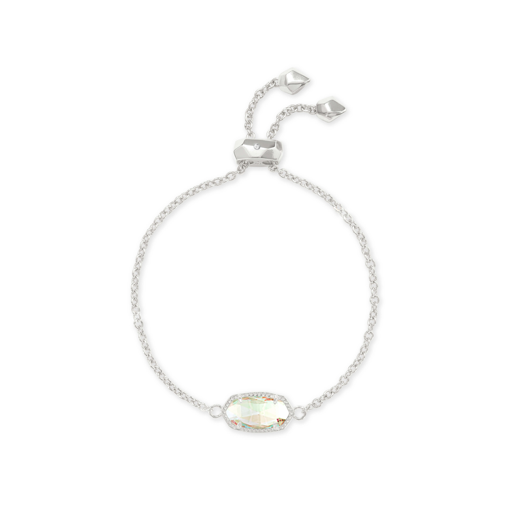 Kendra Scott Kendra Scott Elaina Adjustable Bracelet in Silver Dichroic Glass
