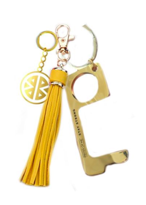 Pieces of Me Don't Touch That Keychain - Yellow