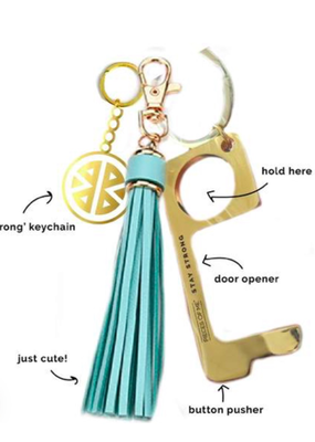 Pieces of Me Don't Touch That Keychain - Aqua