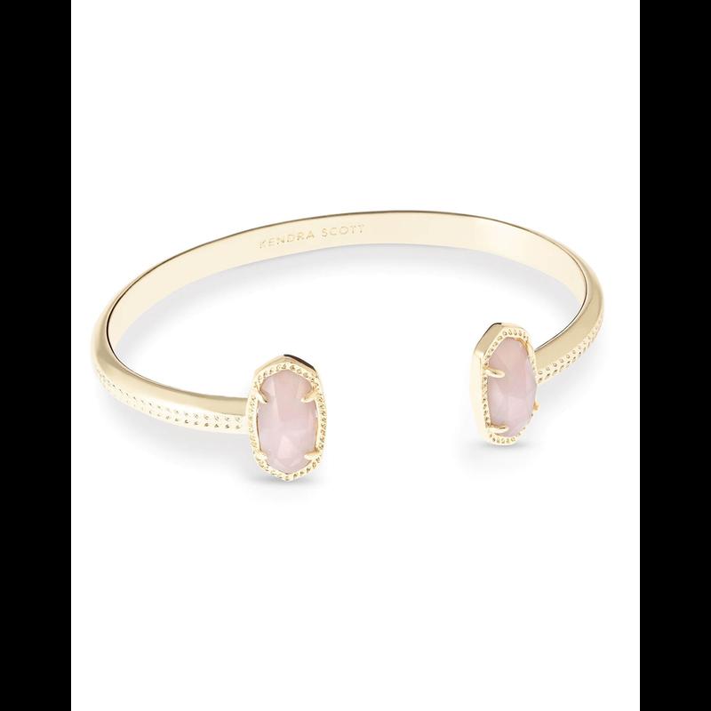 Kendra Scott Elton Bracelet in Gold Rose Quartz