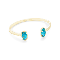 Kendra Scott Kendra Scott Elton Bracelet in Gold Bronze Veined Turquoise