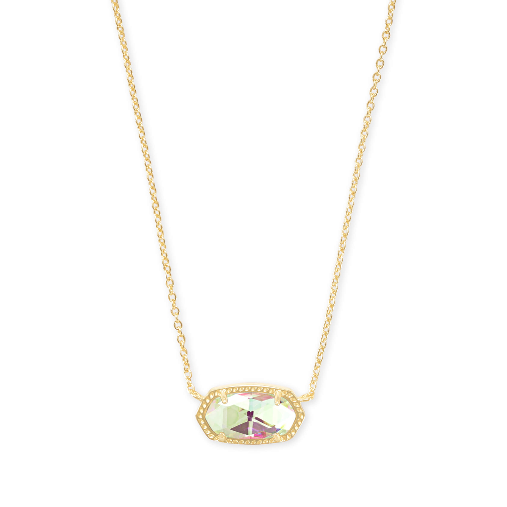 Kendra Scott Kendra Scott Elisa Necklace in Gold Dichroic Glass