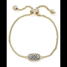 Kendra Scott Kendra Scott Elaina Adjustable Bracelet Gold and Silver Filigree