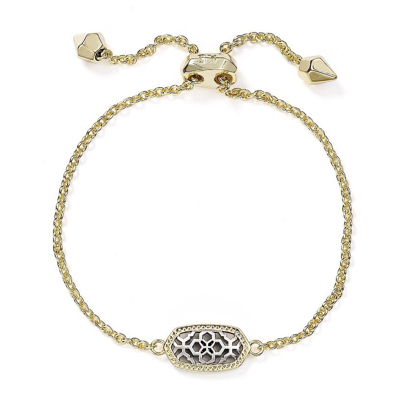 Kendra Scott Elaina Adjustable Bracelet in Gold & Silver Filigree